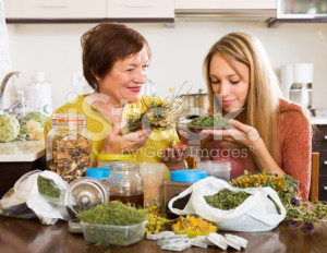 stock-photo-42019874-women-with-medicinal-herbs